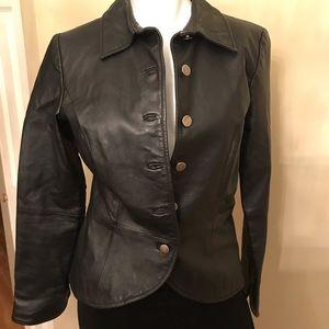 SHAPE FX Genuine Leather Black Jacket